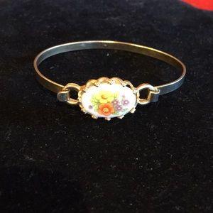 Vintage Avon Cuff / Bracelet with flower theme